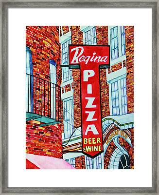 Boston Pizzeria  Framed Print