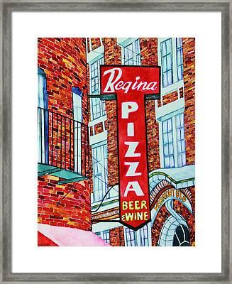 Boston Pizzeria  Framed Print by Janet Immordino