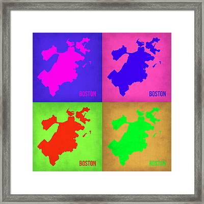 Boston Pop Art Map 1 Framed Print