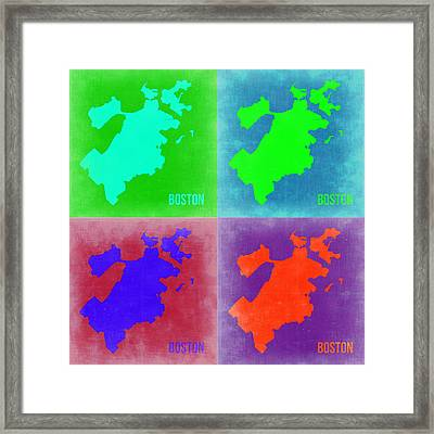 Boston Pop Art Map 2 Framed Print