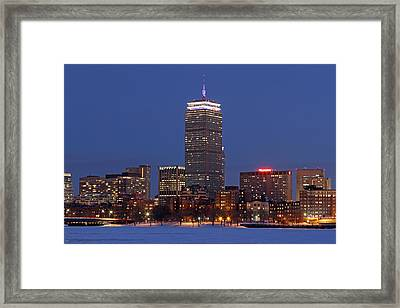 Boston Prudential Center In Patriots Gear Framed Print by Juergen Roth