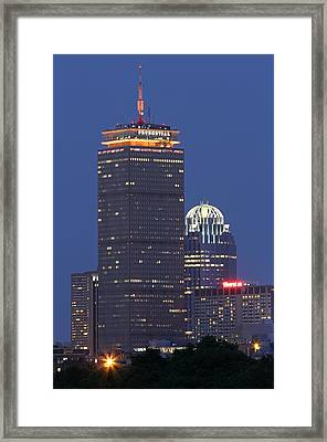 Boston Prudential Tower Framed Print by Juergen Roth