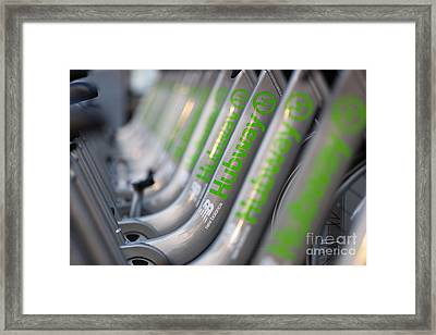 Boston Public Bikes II Framed Print by Clarence Holmes