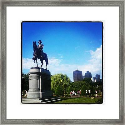 Boston Public Garden Framed Print