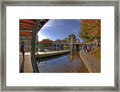 Boston Public Garden Framed Print by Joann Vitali