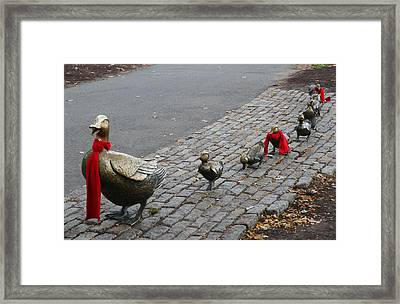 Boston Public Garden - Make Way For Ducklings Framed Print by Juergen Roth