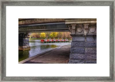 Boston Public Garden Swan Boats 2 Framed Print by Joann Vitali