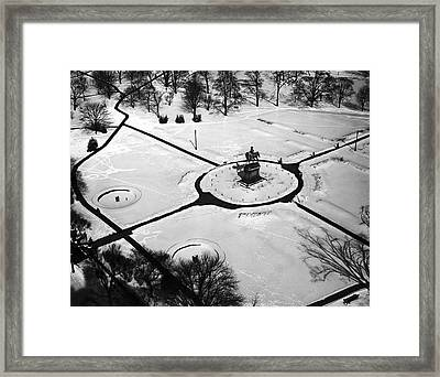 Boston Public Gardens Framed Print by Underwood Archives