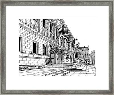 Boston Public Library Framed Print by Conor Plunkett