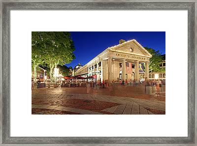 Boston Quincy Market Near Faneuil Hall Framed Print by Juergen Roth
