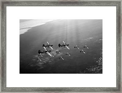 Boston Raiders Black And White Version Framed Print by Gary Eason