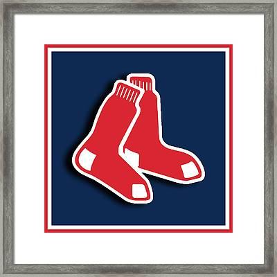 Boston Red Socks Framed Print by Tony Rubino