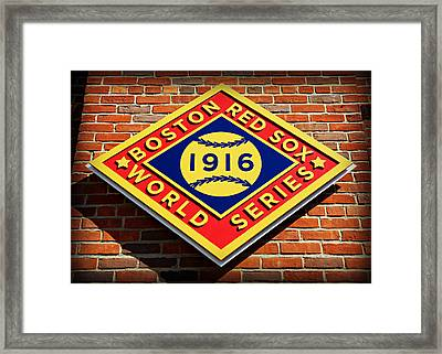 Boston Red Sox 1916 World Champions Framed Print by Stephen Stookey