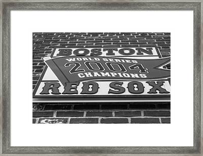 Boston Red Sox 2004 World Series Champions  Framed Print by John McGraw