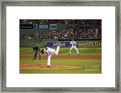 Boston Red Sox Framed Print by Amazing Jules