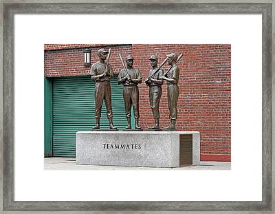 Boston Red Sox Teammates Framed Print by Juergen Roth