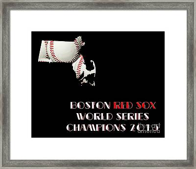 Boston Red Sox World Series Champions 2013 Framed Print by Andee Design