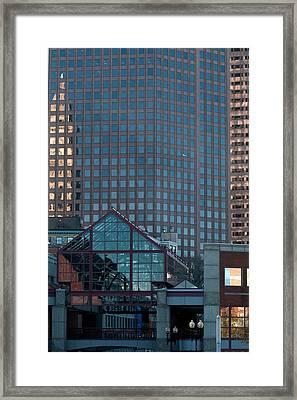 Boston Reflections Framed Print