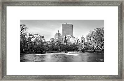 Boston Sky From Public Garden Framed Print