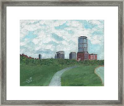 Boston Skyline 1968 Framed Print by Cliff Wilson