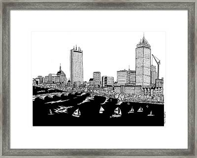 Boston Skyline Back Bay Framed Print by Conor Plunkett