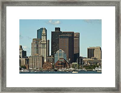 Framed Print featuring the photograph Boston Skyline by Caroline Stella