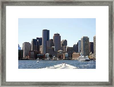 Boston Skyline Framed Print by David Gardener