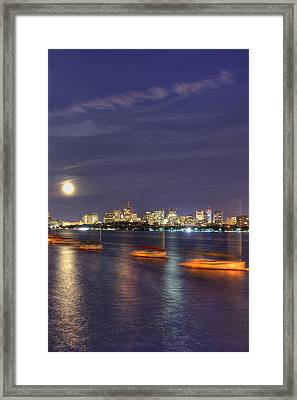Boston Skyline From Memorial Drive Framed Print