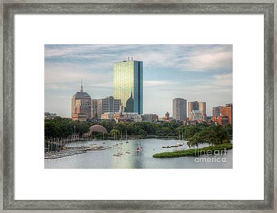 Boston Skyline I Framed Print