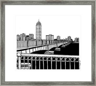 Boston Skyline Mass Ave Framed Print by Conor Plunkett