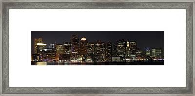 Boston Skyline Panoramic Framed Print