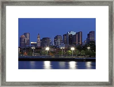 Boston Skyline With North End Framed Print