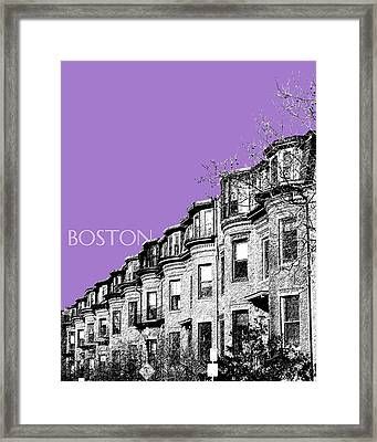 Boston South End - Violet Framed Print by DB Artist