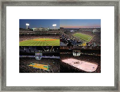 Boston Sport Teams And Fans Framed Print by Juergen Roth