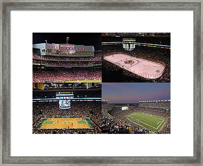 Boston Sports Teams And Fans Framed Print