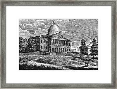 Boston State House, 1817 Framed Print