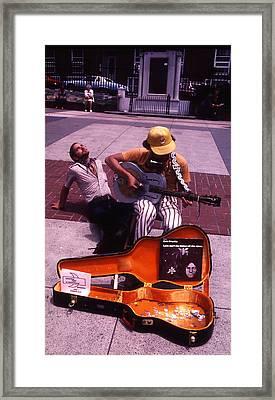 Boston Street Performer Framed Print by Thomas D McManus