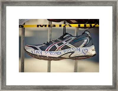 Boston Strong Framed Print by Andrew Kubica