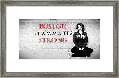 Boston Strong Framed Print by Greg Fortier
