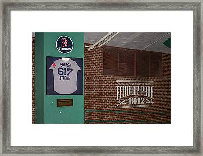 Boston Strong Framed Print by Tom Gort