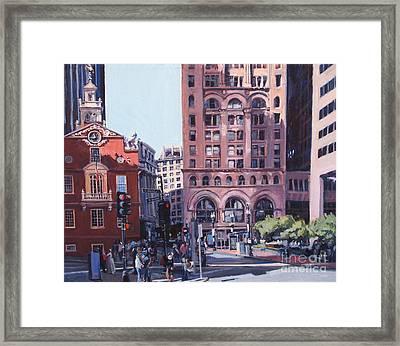 Boston Summer Framed Print by Deb Putnam