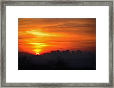 Boston Sunrise Framed Print