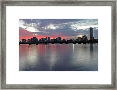 Boston Sunrise Framed Print by Juergen Roth
