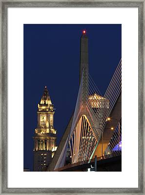 Boston Tall And Strong Framed Print