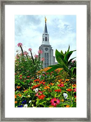 Boston Temple Framed Print by Jenny Wood