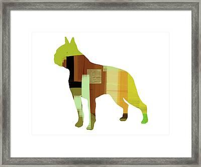Boston Terrier Framed Print by Naxart Studio