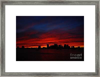 Boston Twilight Framed Print
