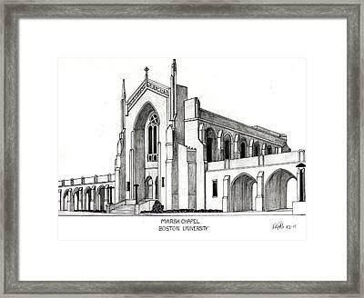 Boston University Marsh Chapel Framed Print