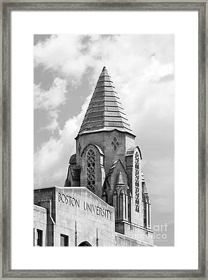Boston University Tower Framed Print by University Icons