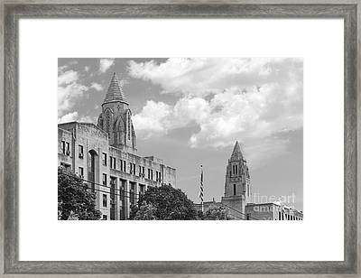 Boston University Towers Framed Print by University Icons